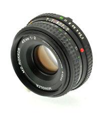 MINOLTA MD mount ROKKOR 45mm f2 Pancake MF Camera Prime Lens- Sharp Optics