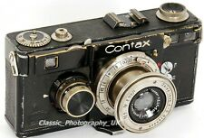 ZEISS Ikon CONTAX I + Tessar 1:3.5 f=5cm Lens - 35mm Rangefinder made in 1936