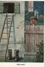 Eifersucht ( Reprint , Emil Köhn )  , Ansichtskarte, 1961 gelaufen