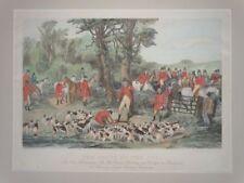 Tod Fuchs - Stevens - Aquatinta - Fuchsjagd Pferd Reiter Sport Jäger - 1860