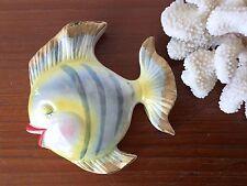 Vintage 50's Kitsch Ceramic Bradley Fish - Wall Hanging Pocket Plaque Fish