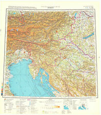 Russian Soviet Military Topographic Maps – TRIESTE (Italy), 1:1 000 000, ed.1981