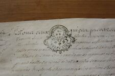 Vintage antique Original  Document 1700's De Soissons