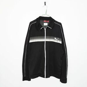 Vintage PUMA Small Logo Tracksuit Top Jacket Black XL