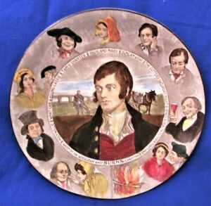 "VINTAGE ROYAL DOULTON D3397 BURNS & CHARACTERS COLORFUL 10 1/4"" DISPLAY PLATE"