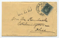 "1860 #35 cover Sacramento CA to Ohio large ""due 10"" marking [y2402]"