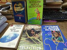 Lot de  5 livres sur la course autour du monde - spécial télé - inf