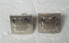 Vintage Sterling P.R.K. Initial B Cufflinks