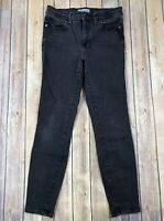 "Madewell Womens Jeans Size 29 Black 9"" High Riser Skinny 27"" Inseam Black Wash"