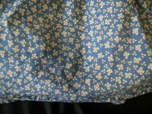 "Chaps Montauk Queen Bed Skirt Dust Ruffle Blue Floral Print 14"" Drop Farm House"
