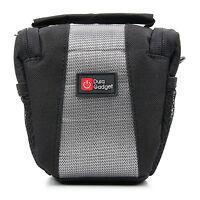 Compact Black Storage Carry Bag For Sony SLT-A58K DSLR Cameras + Strap & Pockets