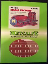 Metcalfe PN183. Small Factory. Card Construction Kit. N Scale.