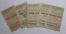 Vintage 5X LOT of 1947 Exhibitors Movie Screening Tickets, Nightmare Alley...