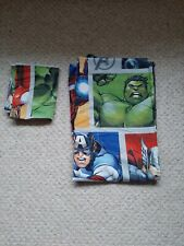 Avengers single duvet set and curtains