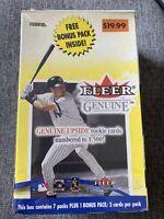 2001 Fleer Genuine Baseball Factory Sealed 8 CT Retail Box