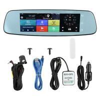 1080P 4G Car Camera ADAS 8'' DVR Rearview Mirror Dash Cam GPS Recorder Bluetooth