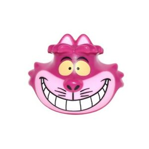 LEGO - Minifig, Head Cat w/ Wide Grin, Pink Muzzle & Yellow Eyes (Cheshire Cat)