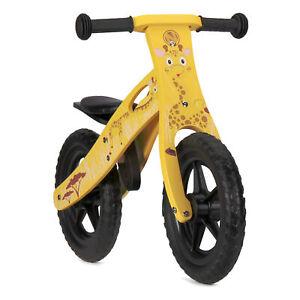 Nicko Giraffe Childrens Wooden Balance Bike Yellow Bicycle NIC853