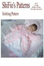 KNITTING PATTERN for BABY JACKET, HAT & BOOTIES 0-3mth # 71 NOT CLOTHES