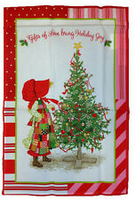 HOLLY HOBBIE CHRISTMAS FLAG~~GIFTS OF LOVE BRING HOLIDAY JOY MINI FLAG 12x18