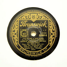 """GEORGE WETTLING'S RHYTHM KINGS """"I've Found A New Baby"""" (EE+) BRUNSWICK [78 RPM]"""