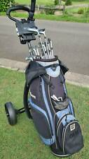 New listing Golf Club Full Set 13 pieces & Bag & Buggy - very good condition