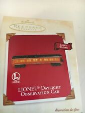 "2003 "" LIONEL DAYLIGHT OBSERVATION CAR  "" Hallmark Ornament (NIB)"