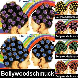 11 Cartes Bollywood Cheveux Haarsticker Bindis Carnaval Costume