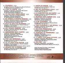 rare 80s 70s CD slip JUAN GABRIEL Querida ABRAZAME MUY FUERTE no tengo dinero