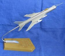 Soviet USSR Model Fighter Airplane MIG 21 MILITARY Gift engraving to general
