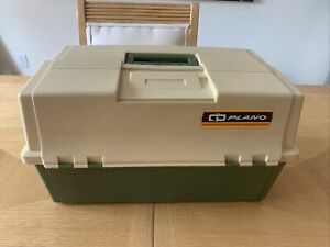 Vintage Large Plano 8606 Tackle Box Locking Double Side Fishing Tackle Box