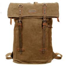 Troop Waxed Canvas Laptop Rucksack Camel TRP0425:  Bag Backpack