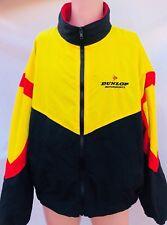 Vintage Dunlop Motorsports Swingster Size Xl Red Black Yellow Zipper Jacket