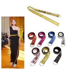 7 Colors Off White Belt Tie Down Nylon Cotton Big IRON Head Industrial Belt Y