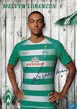 Melvyn Lorenzen (28) + Werder Bremen + Saison 2016/2017 + Autogrammkarte