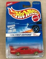 Hot Wheels 1995 1996 First Editions #3 of 12 Red 1970 Dodge Charger Daytona NRFP