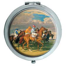 Horse Racing Under Starters Orders Compact Mirror