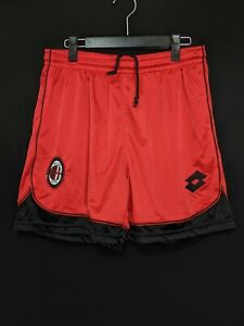 1996-97 AC Milan 4th Football Shorts Soccer M Excellent Condition
