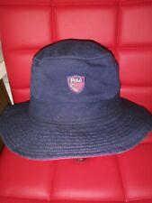 Vintage Ralph Lauren Hat POLO GOLF Plaid Crest Bucket RARE Navy Blue Small