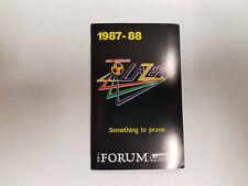 Los Angeles Lazers 1987/88 MISL Indoor Soccer Pocket Schedule - Ilya Industrial