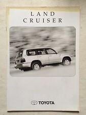 Depliant Toyota Land Cruiser 100 In Italiano Novembre 1999
