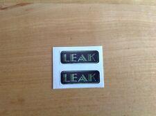 Sticker Emblem Leak vintage x 2 amp ampli tube amplifier Valve Rohren