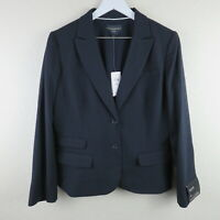 Banana Republic Petite Navy Blue Pinstripe Suit Jacket Blazer - Women's 12P