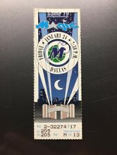 ORLANDO MAGIC DALLAS MAVERICKS Ticket Stub January 24, 1992 SHAQUILLE ONEAL