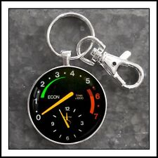 Vintage Saab 900 Series Tachometer And Clock Photo Keychain Classic Car VDO