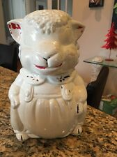 Vintage American Bisque ABCO Pottery Lamb Sheep Cookie Jar