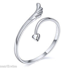ANGEL WING LOVE RING ADJUSTABLE Wicca Witch Pagan Goth Yoga GREAT GIFT IDEA