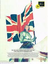 PUBLICITE ADVERTISING 065  2009  les 15 ans d'EUROSTAR PARIS -LONDRES