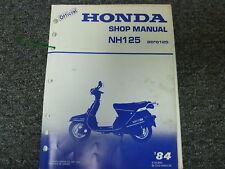 1984 Honda Model NH125 Aero125 Scooter Moped Shop Service Repair Manual Book