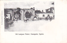 CYPRUS POSTCARD CAREMFILAKI OLD LUSIGNAN PALACE FAMAGUSTA RARE EARLY 1903